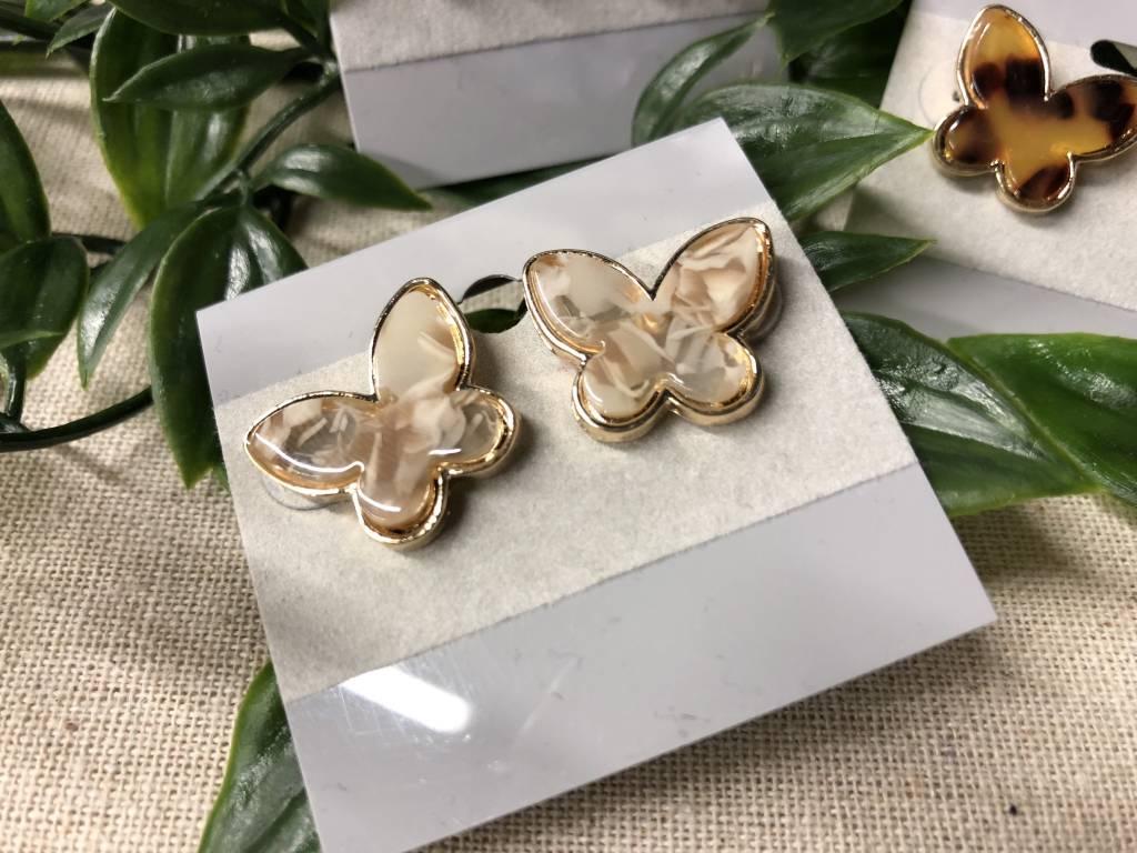 Tortoise Shell Resin Earrings