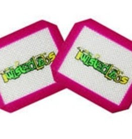 """Twisted Labs 3.5"""" x 4.5"""" Silicone Mat 2 Pack Pink"""