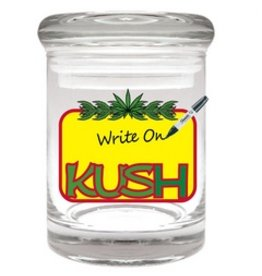 Stash Jar 90ml Kush Writeable