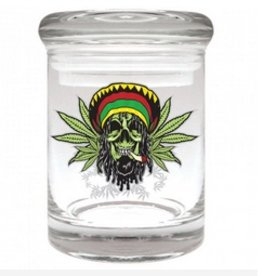 Stash Jar 90ml Rasta Skull