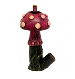 "5.25"" Shroom Incense Medium Hand Pipe"