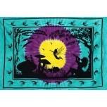 Blue Wonderland Silhouette Tapestry