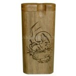 Large Engraved Dugout Alice In Wonderland Caterpillar