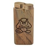 Large Engraved Dugout Super Mario Goomba