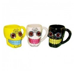 Day of the Dead Skull Coffee Mug