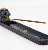 Black Sugar Skull Incense Burner