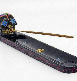 Black Sugar Skull Incense Holder