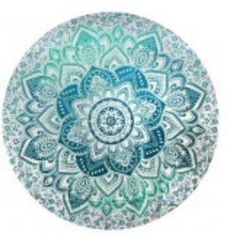 THREADHEADS Lotus Mandala Round Tapestry