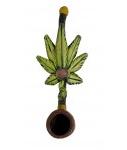 """3.25"""" Mini Hemp Leaf Hand Pipe"""