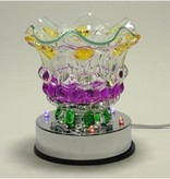 Mardi Gras Colored Oil Lamp