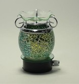 Green Crackle Wall Plug Oil Lamp