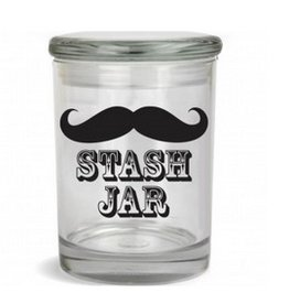 Stash Jar 600ml Mustache