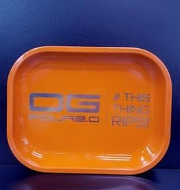 OG Four Orange LRG Rolling Tray