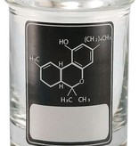 Stash Jar 90ml THC Molecule Black