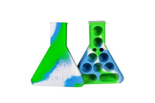 Twisted Labs Silicone Beaker White/Blue/Green