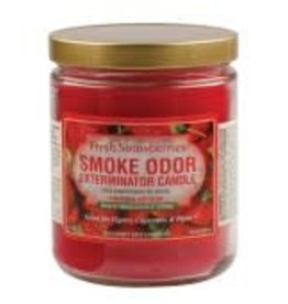 SMOKE ODOR Candle Fresh Strawberries