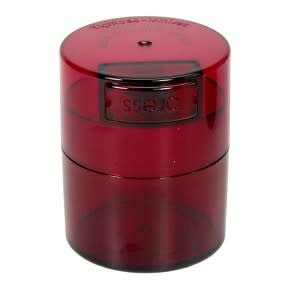 Minivac 0.12 liter Red Tint Cap/Red Tint Body