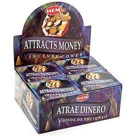 Hem 10pc Attracts Money Incense Cones