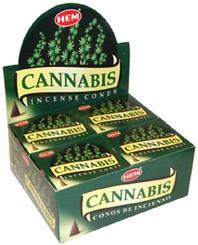 Hem 10pc Cannabis Incense Cones