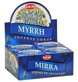 Hem 10pc Myrrh Incense Cones