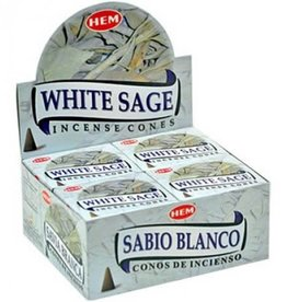 Hem 10pc White Sage Incense Cones