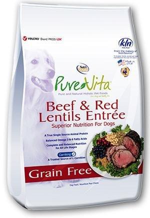 Nutrisource Nutrisource Pure Vita Grain Free Beef & Red Lentils