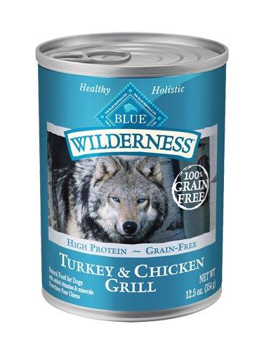 Blue Buffalo Blue Wilderness Grain Free Turkey & Chicken Canned Dog 12.5Oz. Case of 12