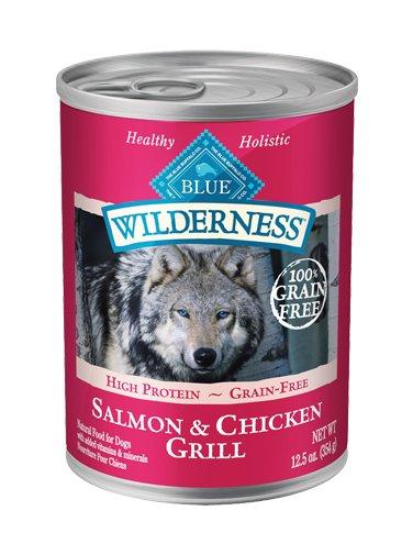 Blue Buffalo Blue Wilderness Grain Fee Salmon & Chicken Grill Canned Dog 12.5Oz. Case of 12