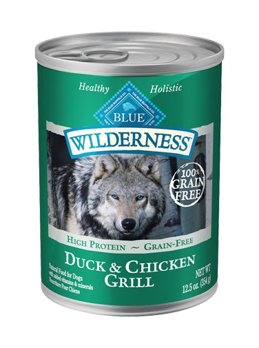 Blue Buffalo Blue Wilderness Grain Free Duck Canned Dog 12.5Oz. Case of 12