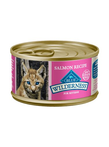 Blue Buffalo Blue Buffalo Cat Wilderness Grain Free Salmon Kitten 3Oz. Case of 24