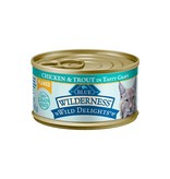 Blue Buffalo Blue Buffalo Cat Wilderness Wild Delights Adult Flaked Chicken & Trout 5.5Oz. Case of 24