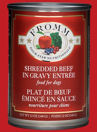 Fromm Fromm Shredded Beef Entree Canned Dog 12Oz. Case of 12
