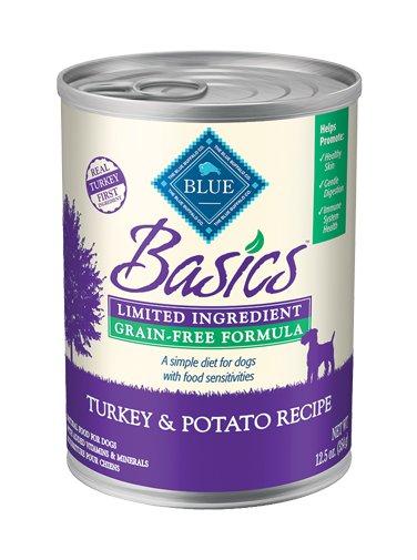 Blue Buffalo Blue Buffalo Basic Turkey & Potato Canned Dog 12.5Oz. Case of 12
