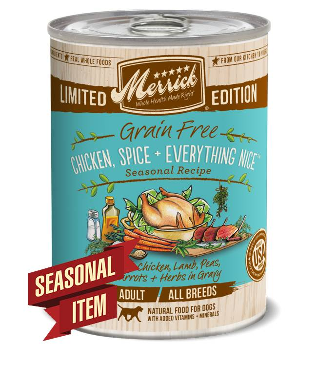 Merrick Merrick Grain Free Chicken & Spice Canned Dog 12.7Oz. Case of 12