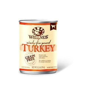 Wellness Wellness 95% Turkey Canned Dog 13.2Oz. Case of 12