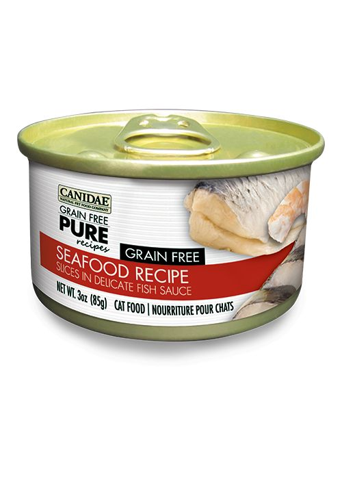 Canidae Canidae Pure Feline Seafood Recipe Slices 3Oz. Case of 12