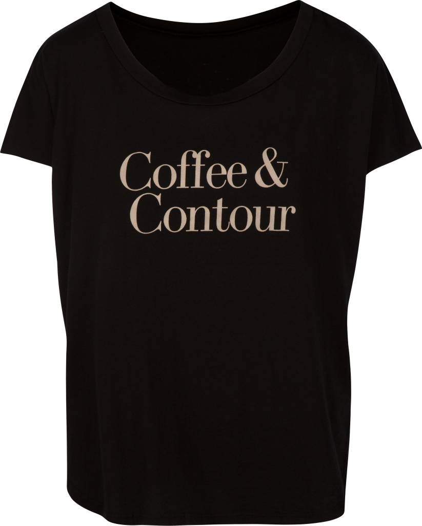 Coffee & Contour Tee Black