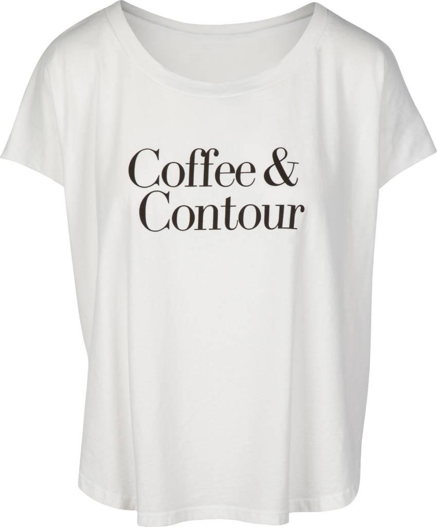 Coffee & Contour Tee White