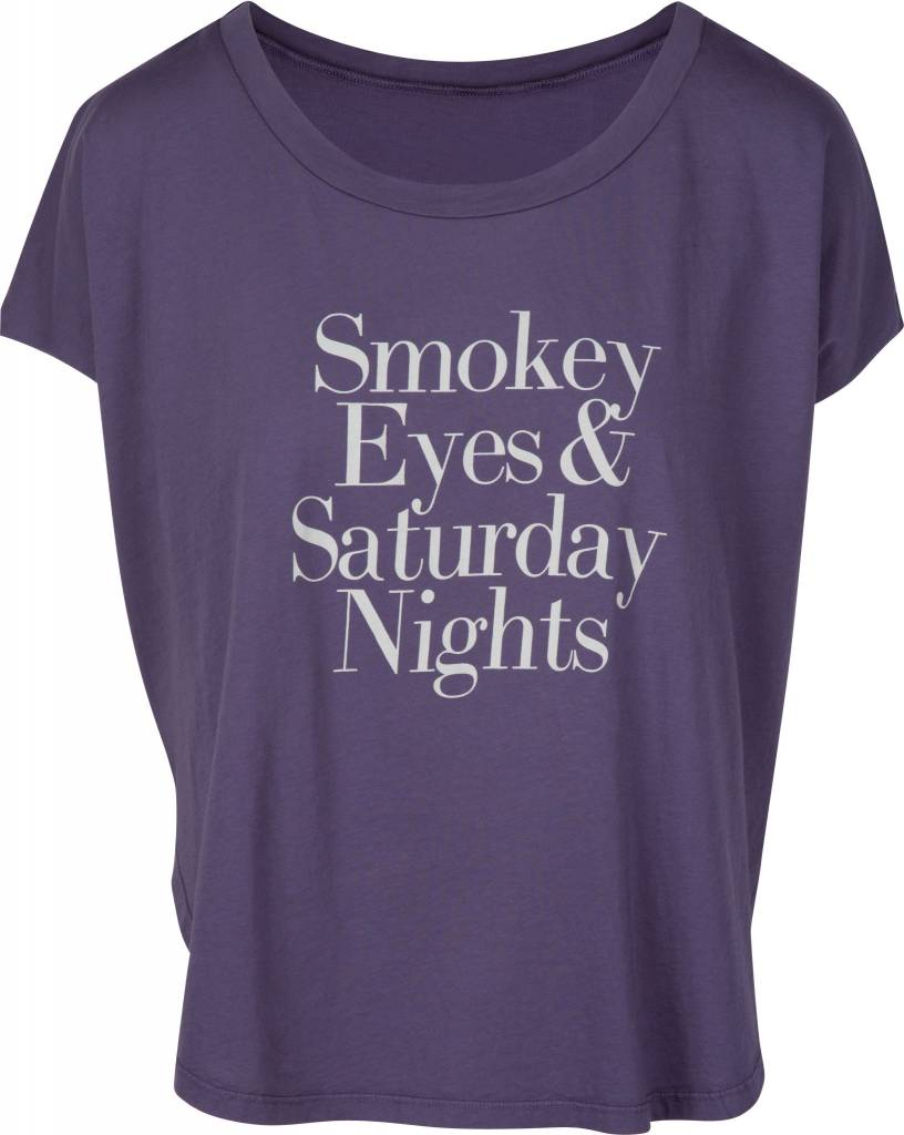 Smokey Eyes & Saturday Nights Tee Purple Smoke