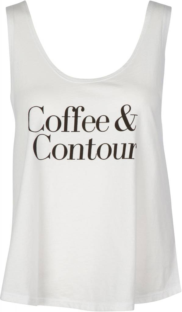 Coffee & Contour Tank White