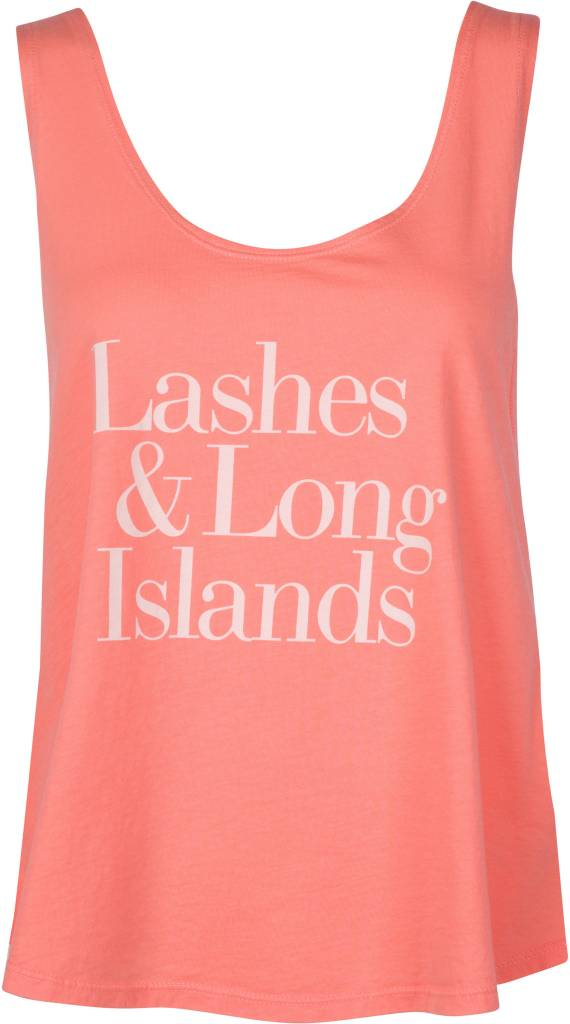 Lashes & Long Islands Tank Tangerine