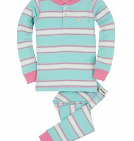 Pastel Stripes Henley Pjs
