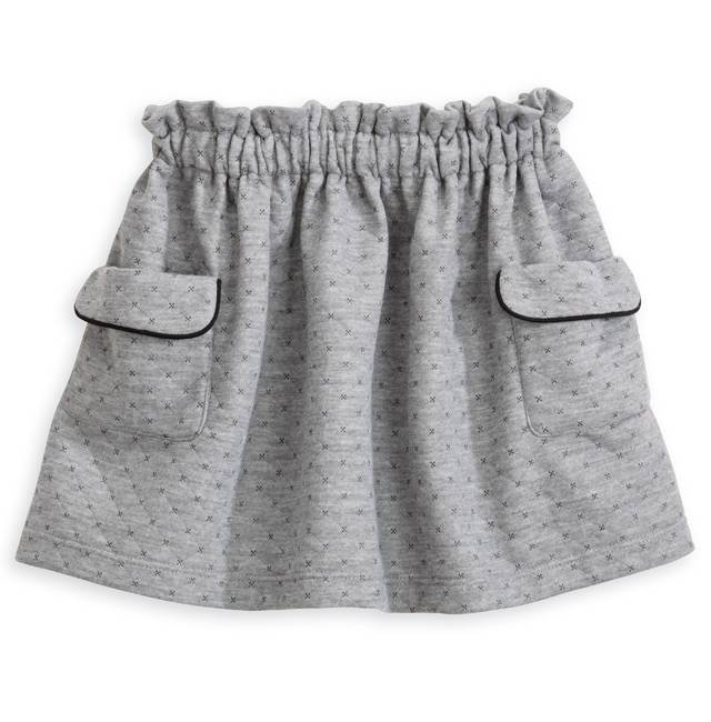 Grey Dot Sheffield Skirt