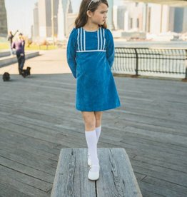 Estelle Blue Cord Dress