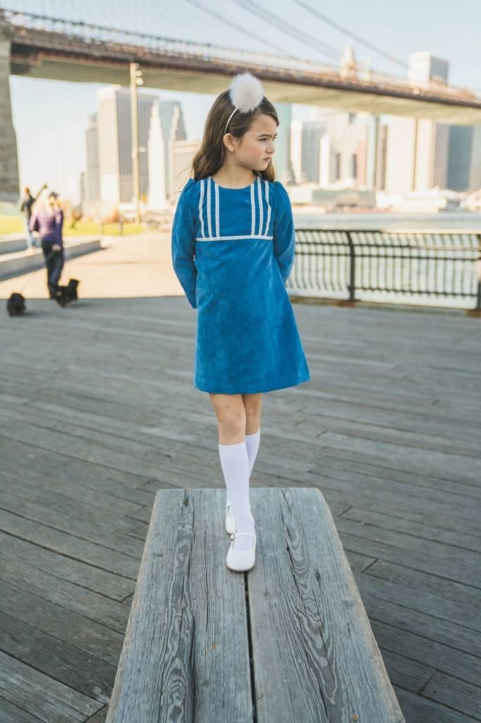 Estelle Blue Cord Dress