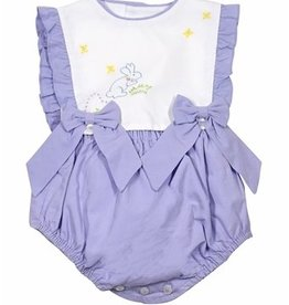 Sophie & Lucas Lilac Bunny Overall