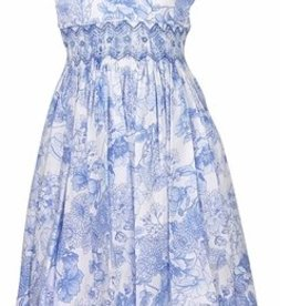 Luli & Me Blue Smocked Dress