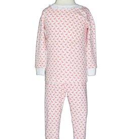 Lila & Hayes Ava Ruffled Flamingo Pajama Set