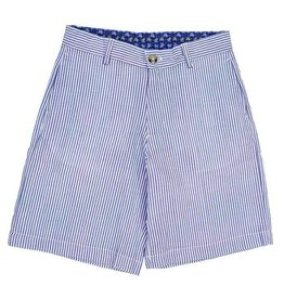 J Bailey Blue Seersucker Shorts