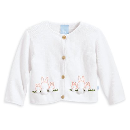 Bella Bliss Embroidered Bunnies Cardigan